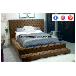 Brown Plush Velvet Oasis Park Lane Bed