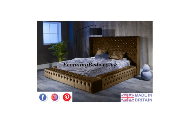 Brown Plush Park Lane Bed