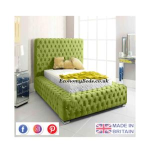 Green Plush Velvet Firm Park Lane Chesterfield Bed