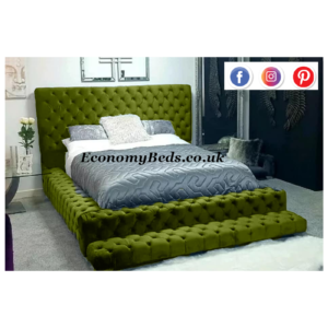 Green Plush Velvet Park Lane Bed Frame