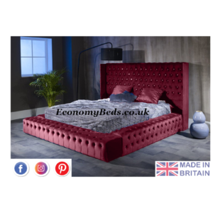 Maroon Plush Park Lane Bed