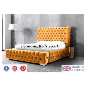 Mustard Egg Plush Velvet Royal Windermere Park Lane Bed