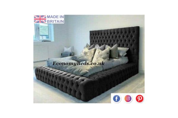 Black Velvet Windermere Bed Frame