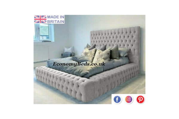 Cream Velvet Windermere Bed Frame