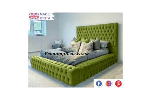 Green Velvet Windermere Bed Frame