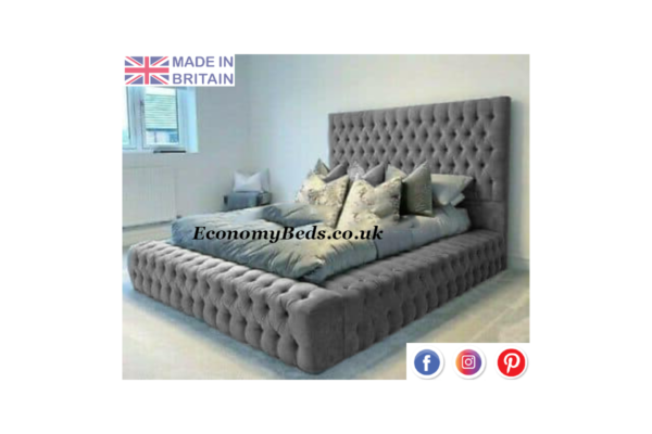 Steel Velvet Windermere Bed Frame