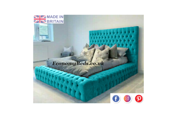 Teal Velvet Windermere Bed Frame