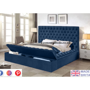 Saphire Plush Velvet Ambassador Chesterfield Bed