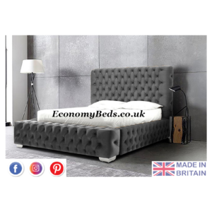 Steel Plush Velvet Royal Windermere Park Lane Bed