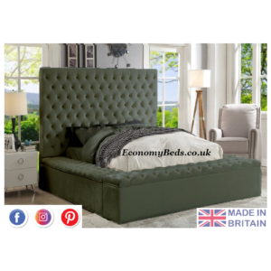Steel plush Velvet Fancy Upholstered Mayfair Velvet Beds.