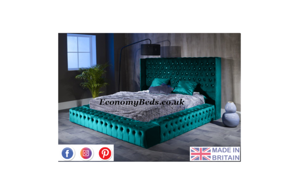Teal Soft Plush Velvet Amber Park Lane velvet Bed Frame
